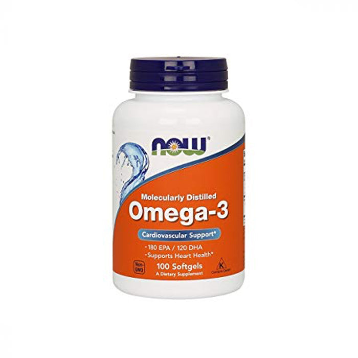 NOW Foods Molecularly Distilled Omega-3 100 Softgels