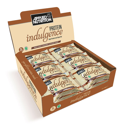 Applied Nutrition Indulgence Vegan Chocolate Caramel Bars x 12 SAVE £10