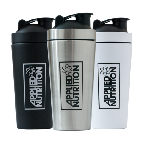 Applied Nutrition Steel Shaker in black, white or Blue