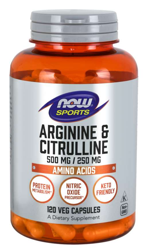 NOW Foods Arginine & Citrulline 120 Vcaps