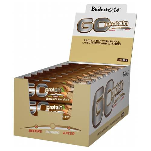 BioTech USA, GO Protein Bar, 40g 2 flavours in Box of 24 bars