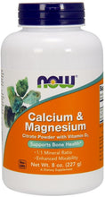 NOW Foods Calcium and Magnesium Citrate Powder with D3 227g