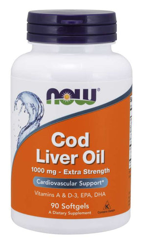 NOW Foods Cod LIver Oil 1000mg 90 Softgels