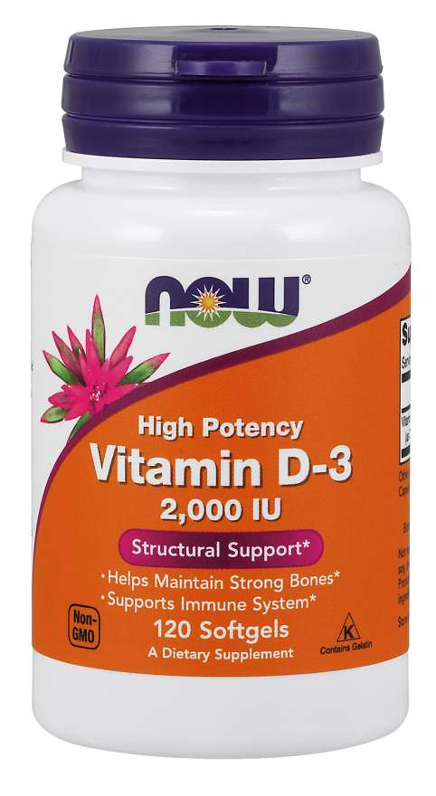 Now Foods Vitamin D 2000 IU 120 Softgels
