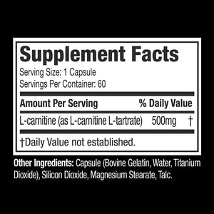 Muscletech Essential Platinum L- Carnitine 60 or 180 Capsules