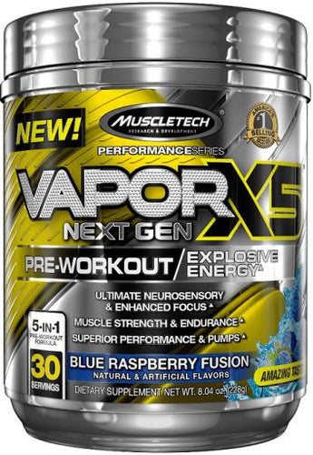 MUSCLETECH - VAPOR X5 NEXT GEN PRE-WORKOUT 228g HALF PRICE