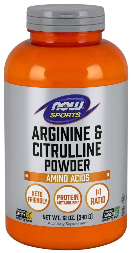 Now - Arginine & Citrulline - 340 grams