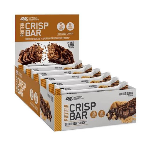 OPTIMUM NUTRITION PROTEIN CRISP BAR 10X65g CHOC PEANUT BUTTER