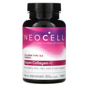 Neocell, Super Collagen + C, 120 Tablets