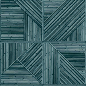 Wallpaper-Bamboo Cabin Blueberry/Natural