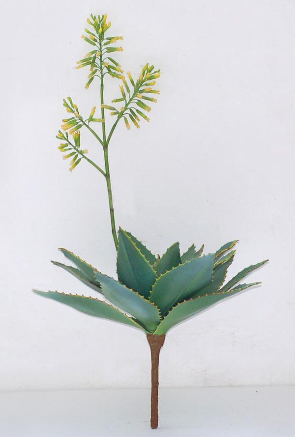 Artificial Aloe - flowering yellow