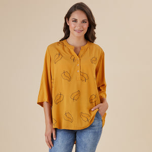 Nehru Embroided Leaf Shirt