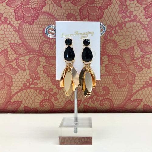 Jewelled Fan Earrings