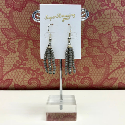 Small Beaded Tassel Earrings