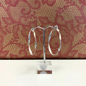 Textured Twist Hoop Earrings