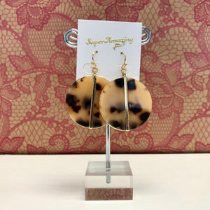 Tortoise Shell Circle Earrings