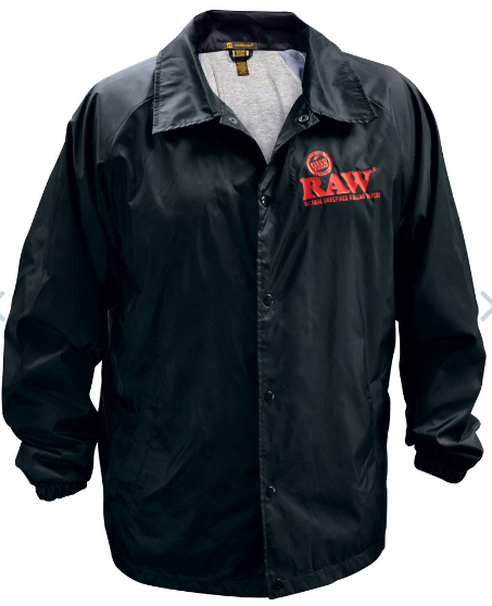 RAW Coach Snap Button Jacket - Black
