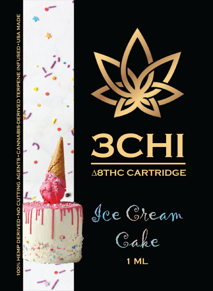3CHI Ice Cream Cake (Indica Dominant Hybrid) Delta 8 THC 1ml Cartridge