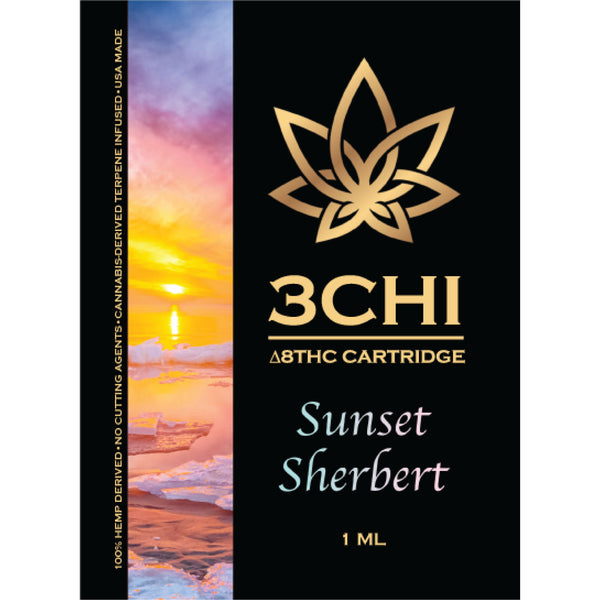 3 CHI Sunset Sherbert  ( Indica Dominant Hybrid) **Available in store only**