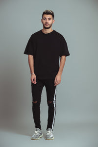 TEE-SHIRT OVERSIZE - DEEP BLACK