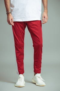 TRACKPANTS ROUGE/BLANC