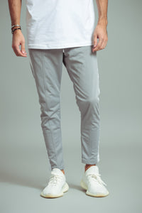 TRACKPANTS GRIS/BLANC