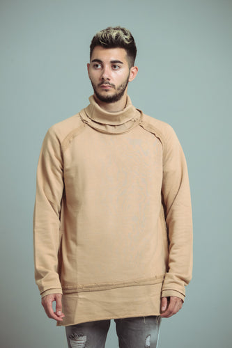 TURTLE NECK OVERSIZE TAUPE