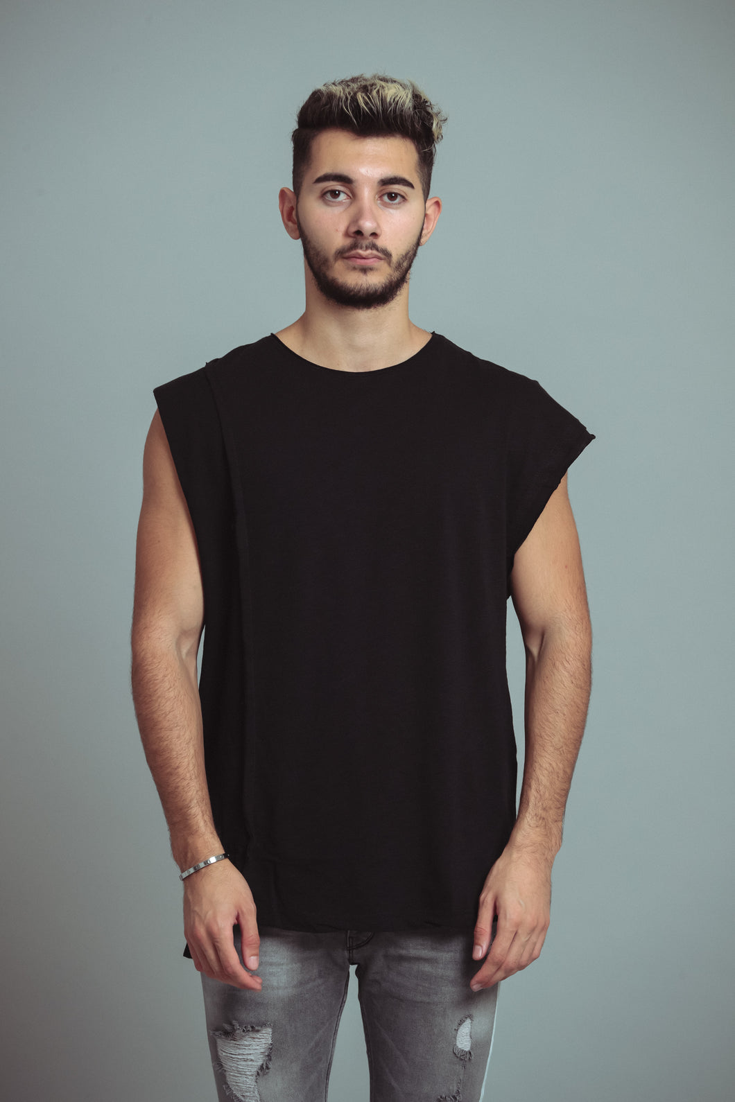 TEE-SHIRT DISTRESSED - BLACK
