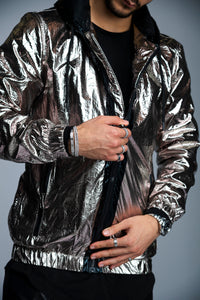 MANTEAU METALLIC - CHROME