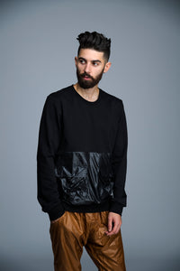SWEAT À POCHE ÉLASTIQUE - BLACK