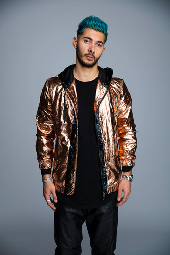 MANTEAU METALLIC - ROSE GOLD