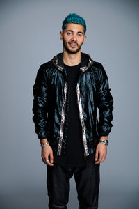 MANTEAU METALLIC - BLACK