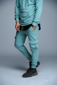 JOGGER SIDE POCKET - BLEU