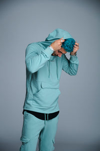 HOODIE DREAM >REALITY - BLEU