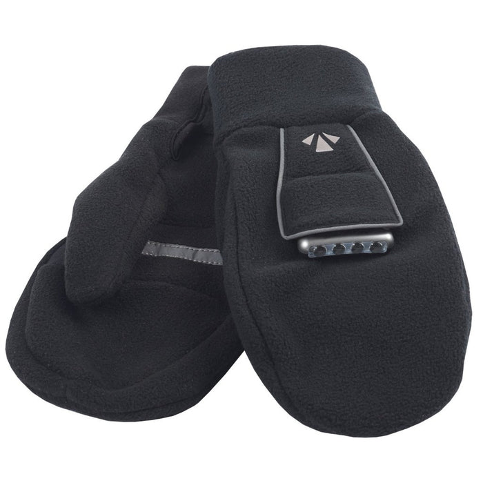 PolarLites Mittens (Black) -- Lights sold separately