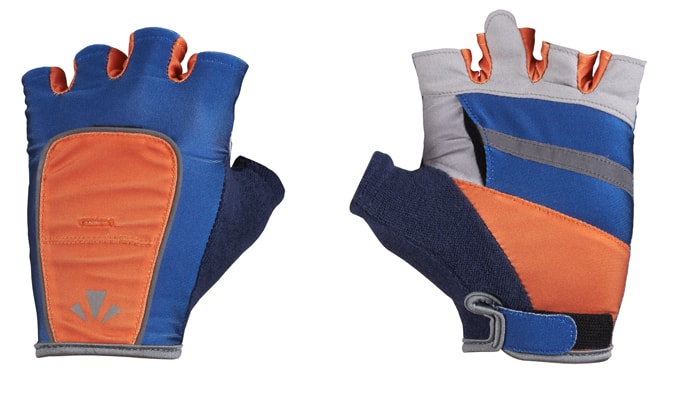 RunLites Gloves (Blue & Orange) Half Length -- Lights sold separately - Mangata
