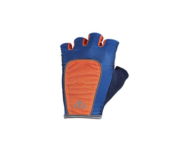 RunLites Gloves (Blue & Orange) Half Length -- Lights sold separately
