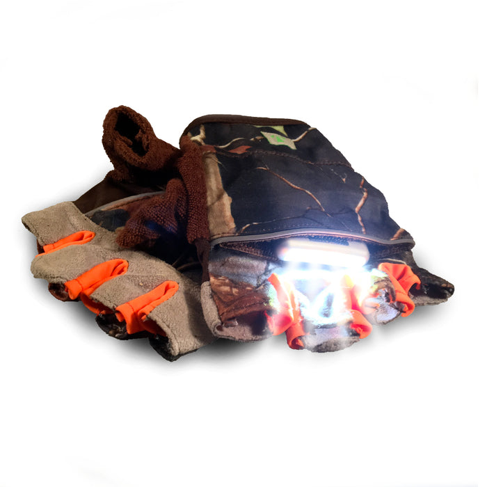RunLites Sport Gloves (CAMO) Half-length -- Lights included - Mangata