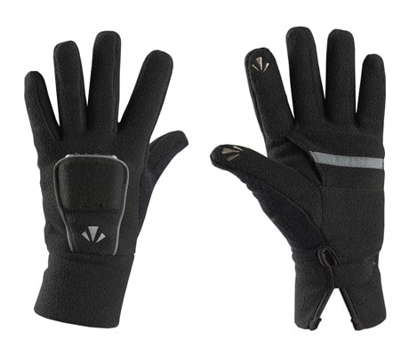 PolarLites Fleece II Gloves (BLACK) Full-Length -- (Lights Sold Separately) - Mangata
