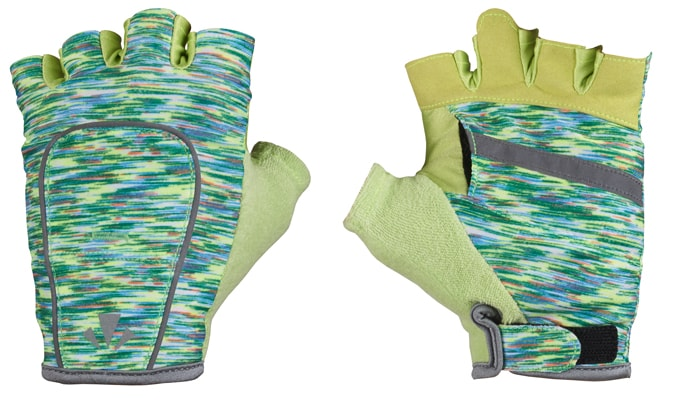 RunLites Gloves (Green Flecks) Half Length -- Lights sold separately - Mangata