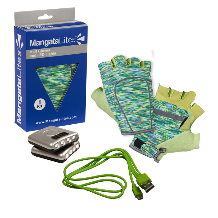 MangataLites Green Flecks Half Gloves Kit (Lights included) - Mangata