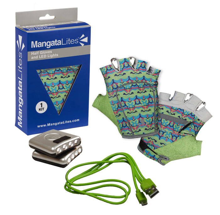 MangataLites Lime Royal Half Gloves Kit (Lights included) - Mangata