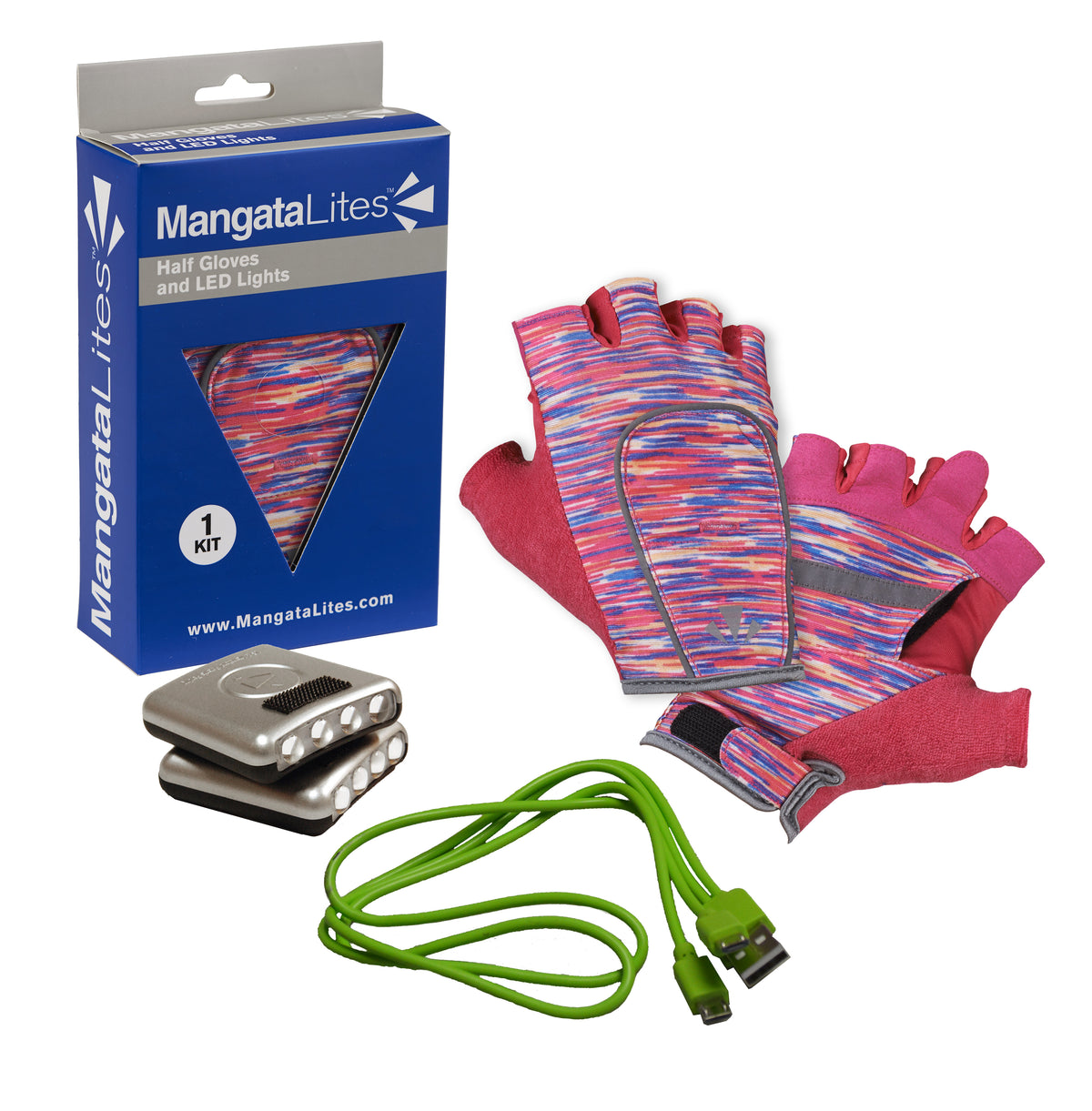 MangataLites Pink Flecks Half Gloves Kit (Lights included)