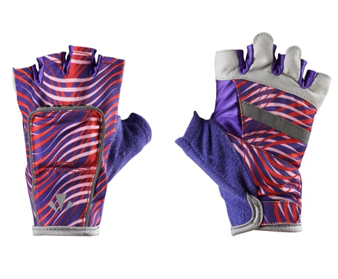 RunLites Gloves (Red & Purple Wave) Half Length -- Lights sold separately - Mangata