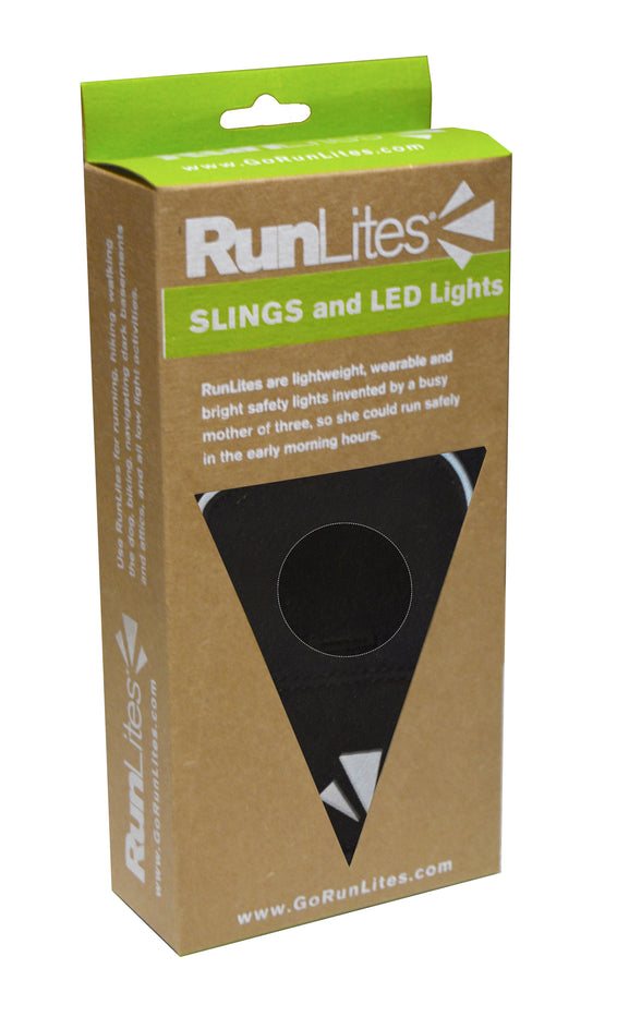 RunLites Black SLING II Kit (Lights Included) -- One Size Fits Most - Mangata