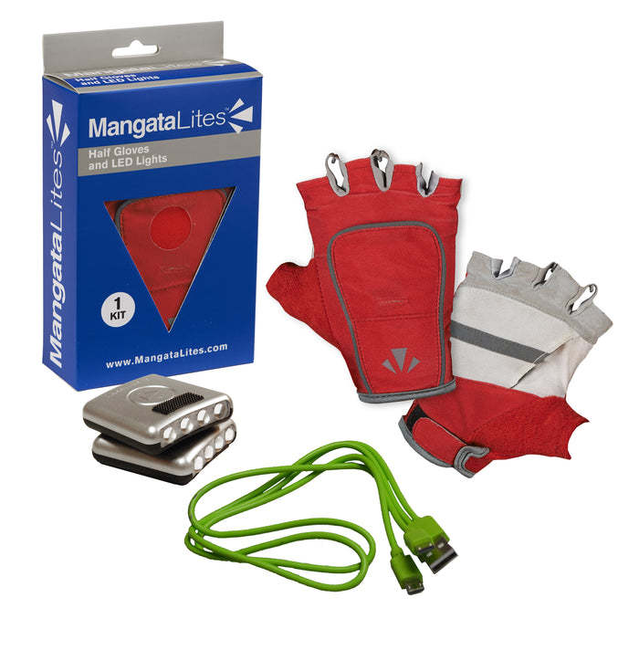 MangataLites Red & White Half Gloves Kit (Lights included) - Mangata