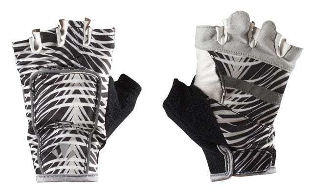 RunLites Gloves (Black & White Wave) Half Length -- Lights sold separately - Mangata