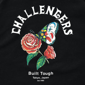 CHALLENGER -CHALLENGERS BUTTERFLY HOODIE- BLACK