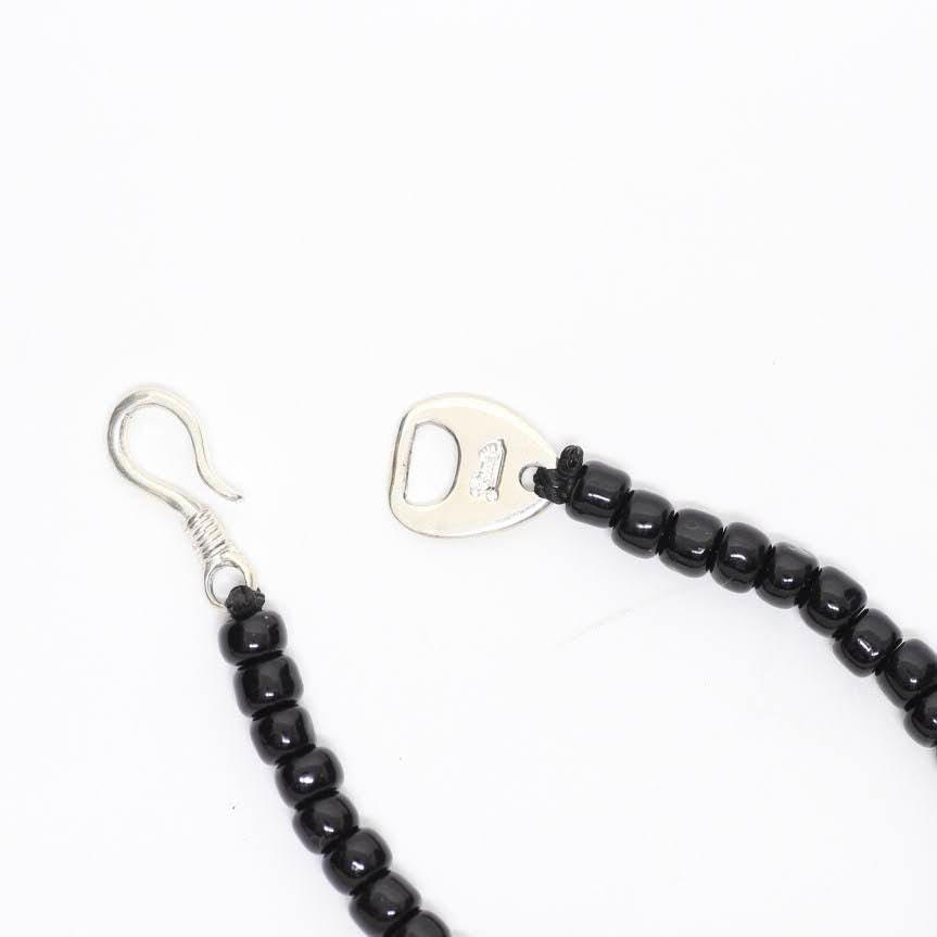 shaft silver works シャフト シルバーワークス -Glass Beads Bracelet- 3point BLACK