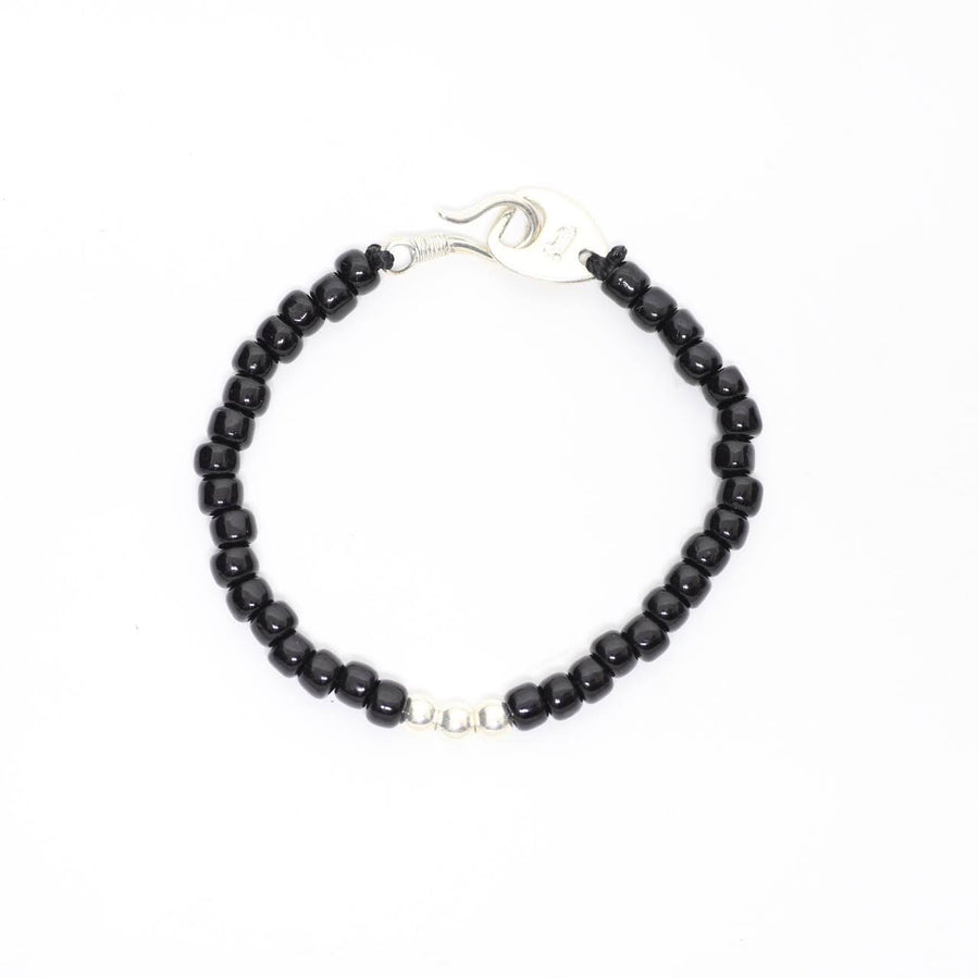shaft silver works シャフト シルバーワークス -Glass Beads Bracelet- 1point BLACK